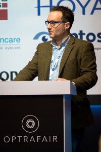 Mark Holloway Optometrist speaking at Optrafair 2015
