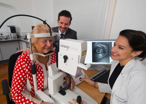 Dr. Marina Green-Gomez and Prof. John M. Nolan during a patient examination